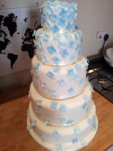 Decorating my 5 tier wedding cake